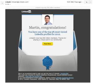 LinkedIn email