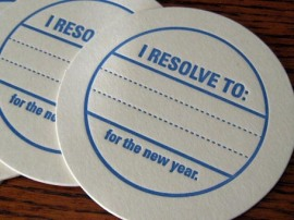 New Year's Resolutions coasters