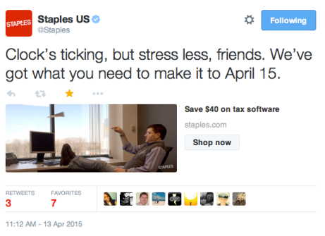 Staples social post