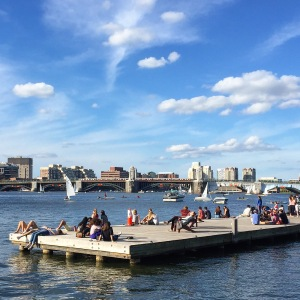 On the dock in Boston