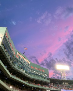 Purple sky over Fenway