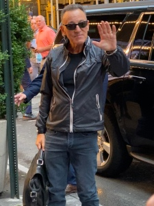 Bruce Springsteen arriving at St. James Theater